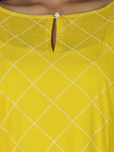 Yellow Cotton Kurta