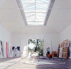 "Képtalálat a következőre: ""Atelier Derneburg Georg Baselitz"" Art Studio Design, Art Studio At Home, Studio Room, Dream Studio, Studio Spaces, Artist Workspace, Painters Studio, Workspace Inspiration, Creative Studio"