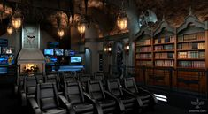Modern Dark Knight inspired Home Theater - pic 1 of 3