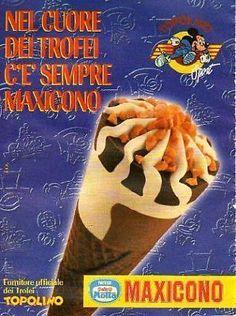 Tia62 Pubblicità Advertising Werbung 1998 Maxicono Motta Nestle' gelato