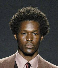 handsome black male model