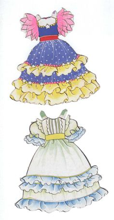 Bride Set Anime of Paper Dolls Book, Vintage Paper Dolls, Dress Drawing, Paper Embroidery, Doll Crafts, Anime Style, Baby Dress, Manga, Little Girls