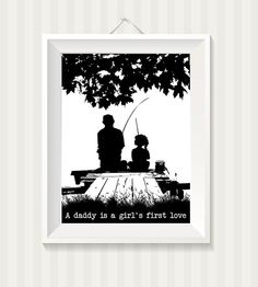 Hey, I found this really awesome Etsy listing at https://www.etsy.com/listing/187721277/father-daughter-fishing-on-the-dock-a