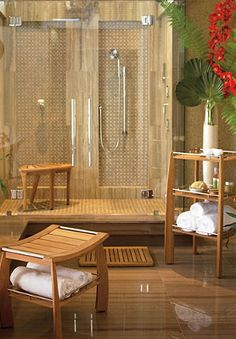 Rival five-star spa hotels...,  I would love a spa themed master bath