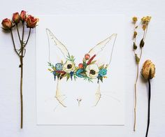 """Decorate your space with Ginably's watercolor illustration prints. - Printed on 100% white cotton rag - Available in sizes 8""""x10"""" and 11""""x14"""" - Shipped flat in a rigid mailer with a cellophane protect"""