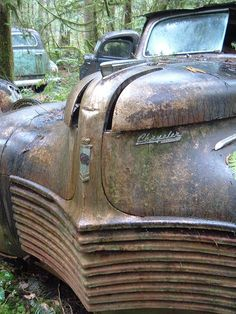 auto graveyard, it's a 1940 Chrysler Business Royal