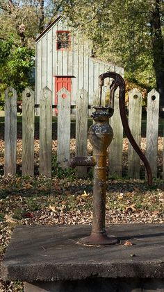 Well water hand pump..........so good and cold...