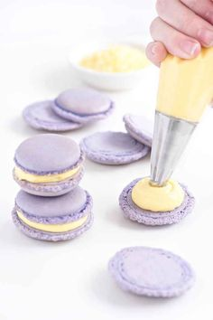 Lemon Lavender Macarons