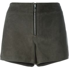 Rag & Bone Front Zip Shorts (19,330 PHP) ❤ liked on Polyvore featuring shorts, grey, rag & bone, rag bone shorts, gray shorts and grey shorts