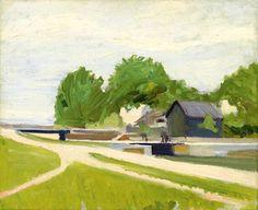 Edward Hopper, Canal Lock at Charenton, 1907 on ArtStack #edward-hopper #art