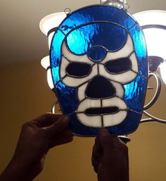 Blue Demon Stained Glass, Lucha Libre