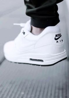 All White Nike Air
