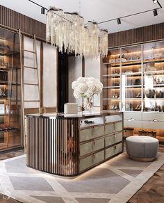 Walk In Closet Design, Wardrobe Design Bedroom, Luxury Bedroom Design, Closet Designs, Luxury Interior Design, Modern Luxury Bedroom, Dressing Room Closet, Dressing Room Design, Dressing Rooms