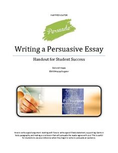 I will pay for a persuasive essay