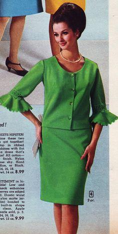 Veronica Hamel | Aldens 66 fw green scalloped 1960s Mod Fashion, Vintage Fashion, Veronica Hamel, Fashion Models, Fashion Outfits, Fashion Skirts, Fashion Terminology, Vintage Dresses, Vintage Outfits