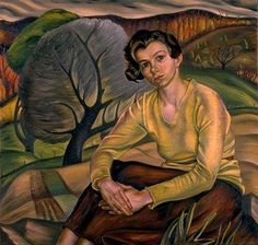 Prudence Heward: Girl in Yellow Sweater, oil on canvas, x dated 1936 Collection of the National Gallery of Canada Canadian Painters, Canadian Artists, Art Inuit, Art Society, Art Database, Oil Painting Reproductions, Yellow Sweater, Figure Painting, Portraits