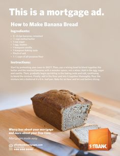 1stBank: Banana Bread   Ads of the World™