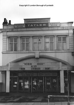 Tatler Cinema, Clapham Road, Stockwell 1971