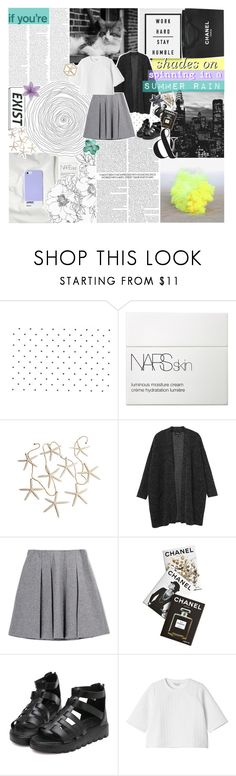 """""""purple untied shoestrings. ☆"""" by i-get-lost-sometimes ❤ liked on Polyvore featuring NARS Cosmetics, Chanel, Monki, Fall Winter Spring Summer, Assouline Publishing and Topshop"""