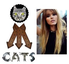 """Cats :3"" by andreea-andreuta-andri ❤ liked on Polyvore featuring art"
