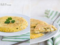 Tortilla de bacalao. Receta de Semana Santa  http://www.directoalpaladar.com/recetas-de-huevos-y-tortillas/tortilla-de-bacalao-receta-de-semana-santa