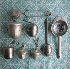 Vintage Tea Infusers  Tea Balls  Instant by RetroGirlRedux on Etsy, $26.00