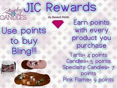 This is how our Jic rewards system works!  Www.jewelryincandles.com/store/sherries-jic-candles  #Sherries-jic-candles