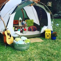 Backyard Glampout, Teen birthday fun. #glamping #domestikate