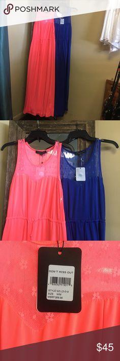 2 new Miami south beach maxi dresses 2 brand new Miami south beach maxi dresses sz med Dresses Maxi