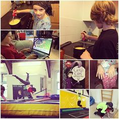 #day20 #trampolining #rebound class, making breakfast together, reading #gothgirl, playing the Sims. Lots of new stuff happening today, Thing 1 has found a new interest and is immersed, Thing 2 & 3 both really worked hard at bouncing today and managed new moves on the trampoline. Thing 4 did herself some nails and gave reading a go, was able to decipher some words, much to her surprise. Thing 5 managed his first forward shuffle/crawl this evening. Busy time! #unschooling #halflingshomeed…