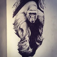 Chris Pontello - Final draft #gorilla #tattoo