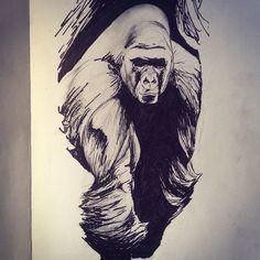 Chris Pontello - Final draft #gorilla #tattoo