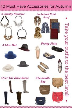 10 Must Have Accessories for Autumn! The perfect way to dress up your capsule wardrobe!