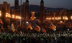 El independentismo cierra su campaña con un multitudinario acto en Barcelona