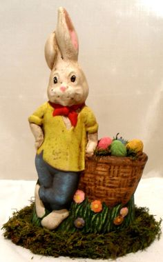 Easter Rabbit Dressed for Success Hand Carfted & Painted