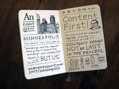 Content first..... Mike Rohde, sketchnotes