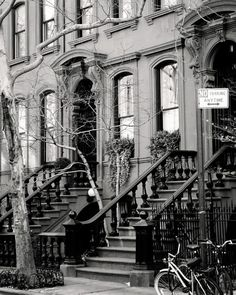 New York City Photography - Black and White Photograph - West Village Photo - Urban Home Decor - Streets - Spring Cityscape - NYC Wall Art
