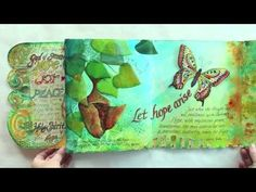 Beautiful Hope Journal Flip Through by Valerie Sjodin. Offering workshop series to complete this book / journal.