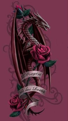 Dragon of the Roses by Anne Stokes  Dragon Hatchling Egg Baby Babies Cute Funny Humor Fantasy Myth Mythical Mystical Legend Dragons Wings Sword Sorcery Magic Art Fairy Maiden Whimsy Whimsical Drache drago dragon Дракон  drak dragão