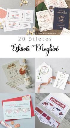 20 ötletes esküvői meghívó | Pink & White Blog | Ünnepek és Mindennapok Stílusosan Rsvp, Pink White, Blog, Wedding, Valentines Day Weddings, Blogging, Weddings, Marriage, Chartreuse Wedding