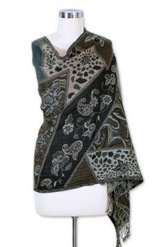 Wool shawl, 'Indian Collage' NOVICA. $45.99