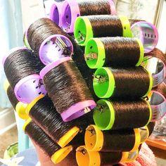 Updo Styles, Long Hair Styles, Hair Setting, Roller Set, Perms, Very Long Hair, Curlers, Big Hair, Vintage Hairstyles