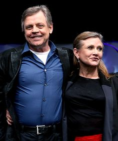 Mark Hamill and Carrie Fisher - Star Wars Celebration Anaheim (2015).