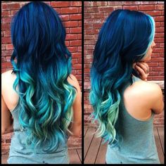 cute hair style black and blue for girls - Google Search