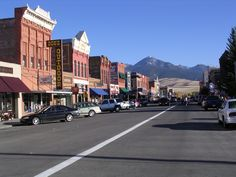 Include the quaint western town of Livingston, Montana, on your ride to Yellowstone Park. It's the most scenic route to get there. Yellowstone National Park, National Parks, Twin Falls, Ways To Travel, Beautiful Places To Visit, Livingston Montana, Back Home, Night Life, Street View