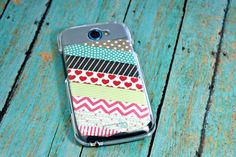 Washi Tape Phone Case #washi #washitape