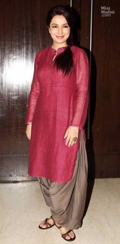 Red Silk Kurta