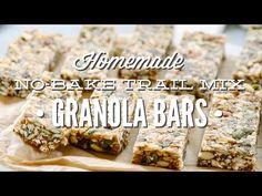 Homemade No-Bake Trail Mix Granola Bars (Freezer-Friendly) - Live Simply