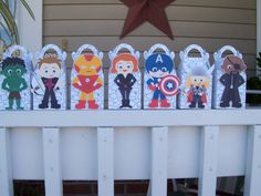 The Avengers inspired Gable Boxes Set of 14 by zbrown5 on Etsy, $16.80