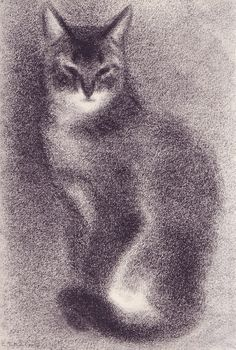 """""""Chirn Sa-Hai Ma'Aruf"""" - Illustration from """"Cats  Kittens, a Portfolio"""", by Clare Turlay Newberry (1956)"""